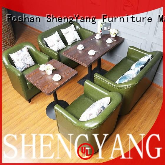 ShengYang restaurant furniture trendy designs cafe style dining sets solution expert for VIP lounge