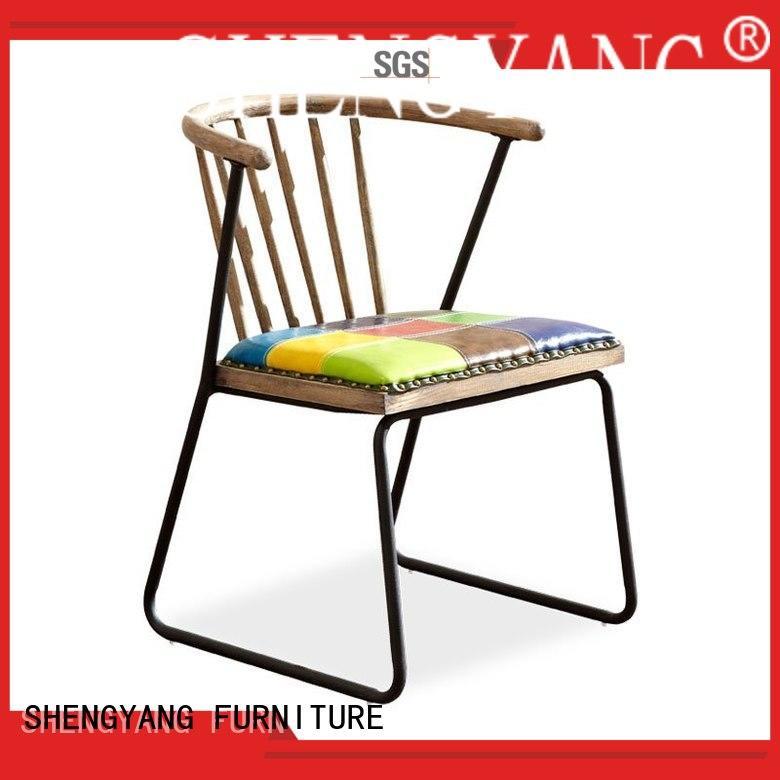 Custom industrial rivet industria chairs ShengYang restaurant furniture american