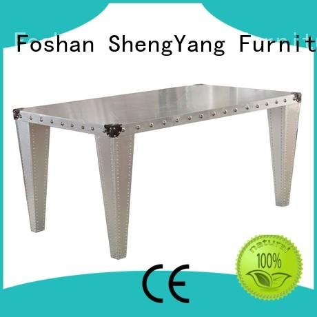 Quality ShengYang restaurant furniture Brand industrial dining table table antique
