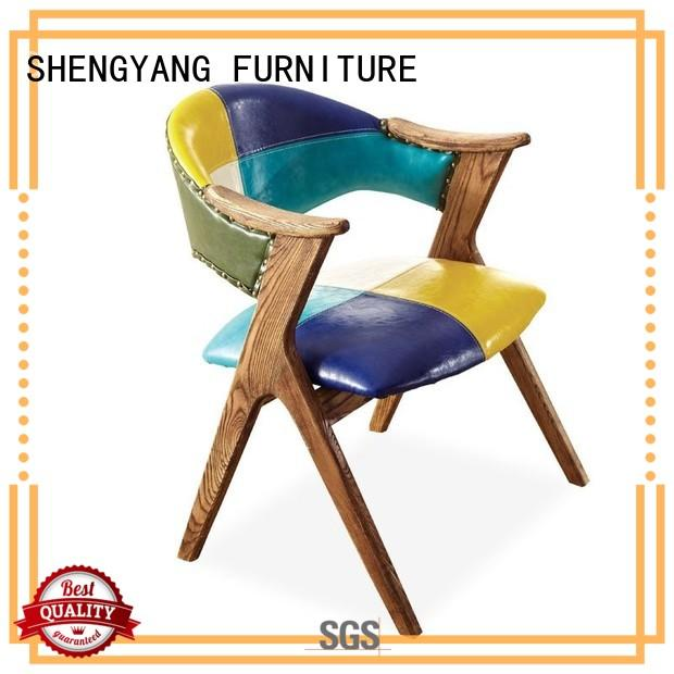 ShengYang restaurant furniture Brand armchair themed industrial dining chairs style