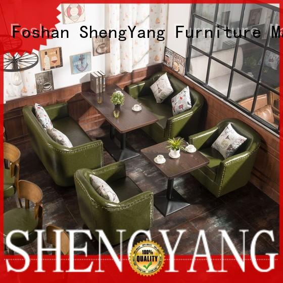 ShengYang restaurant furniture fashionable coffee house furniture wholesalers factory
