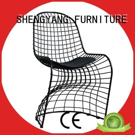 leisure  nordic  chair ShengYang metal kitchen chairs style