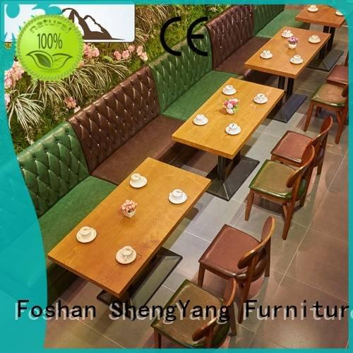 OEM furniture classical contemporary booth dining table