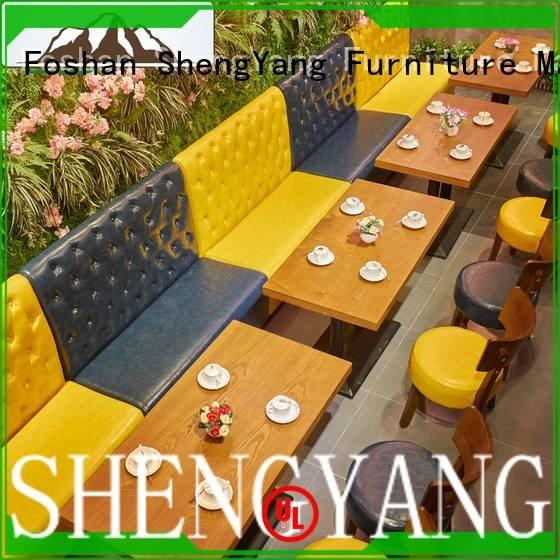 sofas plywood canteen catering ShengYang booth dining table