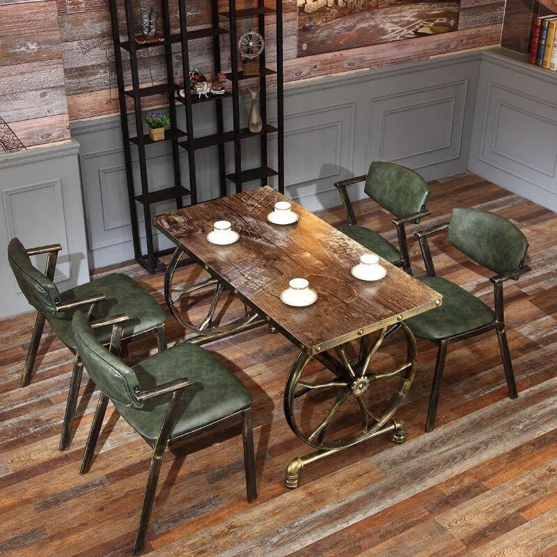 Village Style Metal Cafe Dining Table And Chairs GROUP49