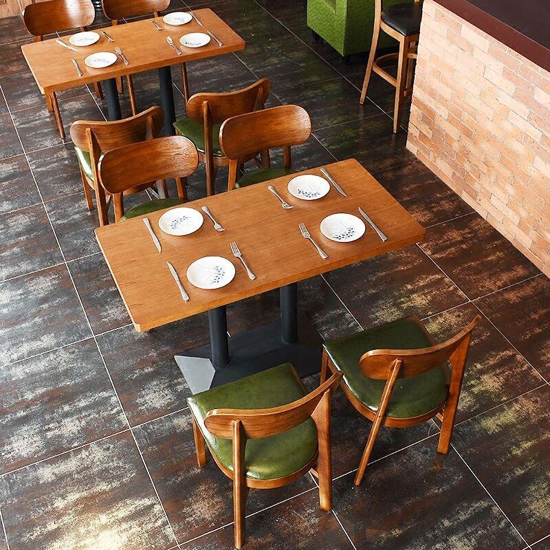 Modern Snack Bar Wooden Table And Chairs GROUP50