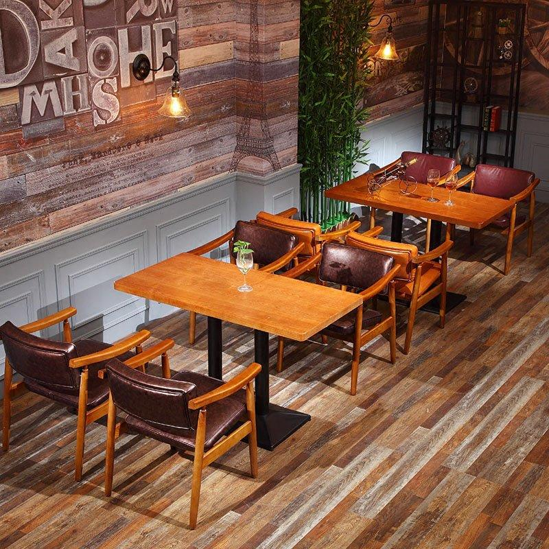 Classical Restaurant Solid Wood Chair And Table GROUP51