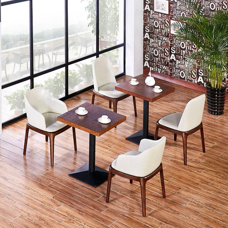 Contemporary Restaurant Leather Chair And Dining Table GROUP54