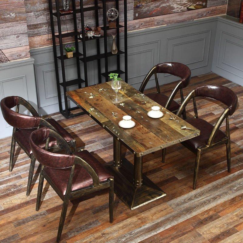 Industrial Restaurant Furniture Metal Dining Table Set GROUP55
