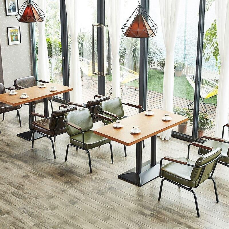 Modern Restaurant Saloon Table And Iron Chair GROUP56