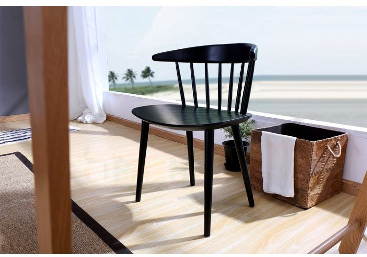 colored wood dining chairs