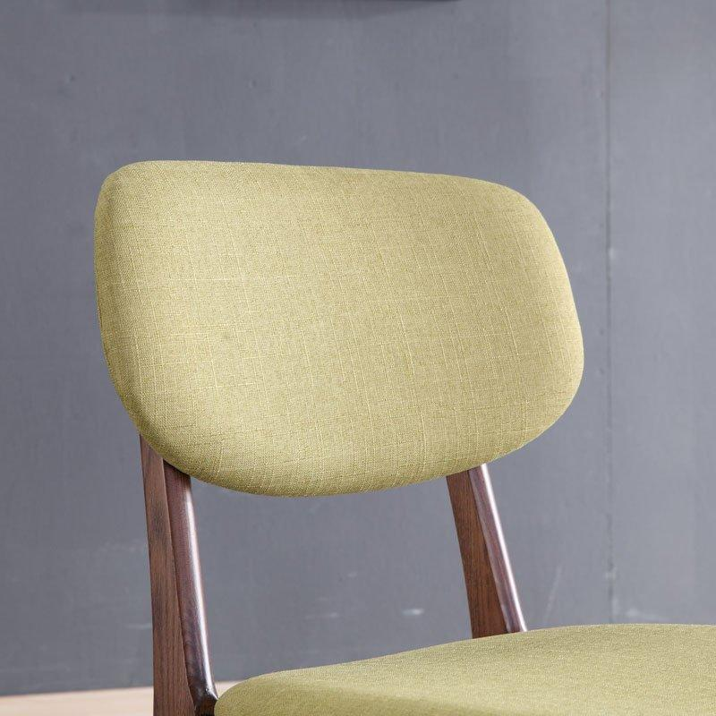 Modern Eatery Wooden And Fabric Dining Chairs CA019