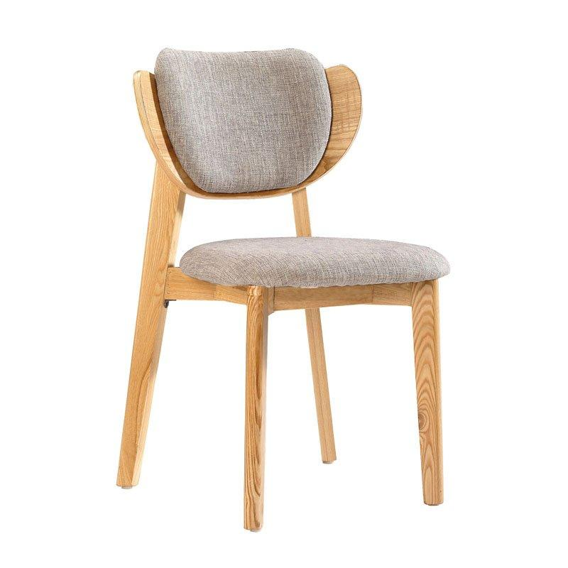Commercial Wooden Dining Chairs With Padded Seats CA020