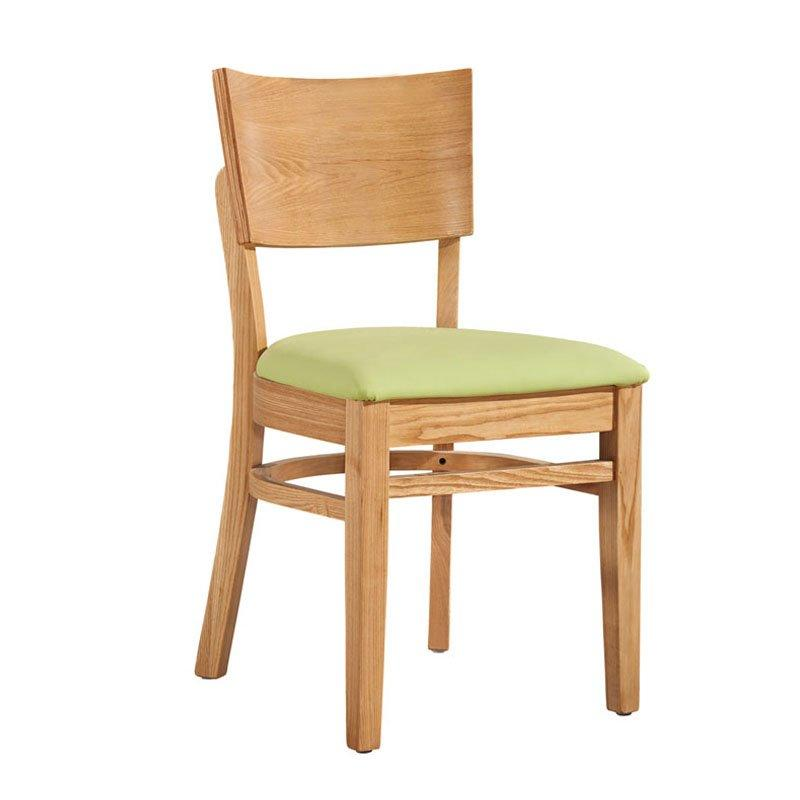 Contemporary Dining Hall Wood Chair With Upholstered CA022