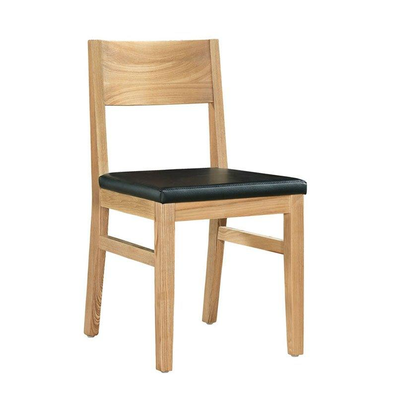 Concise Style Catering Nature Wood Leather Chair CA023