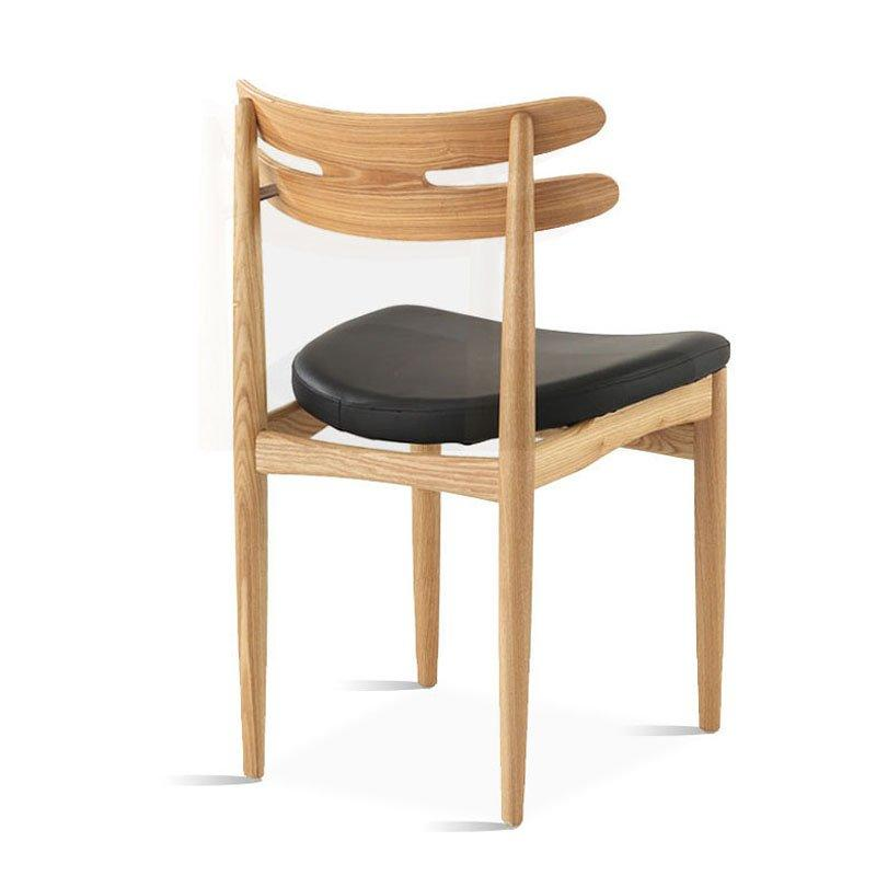 Simple Wooden Catering Furniture Leather Dining Chair CA024