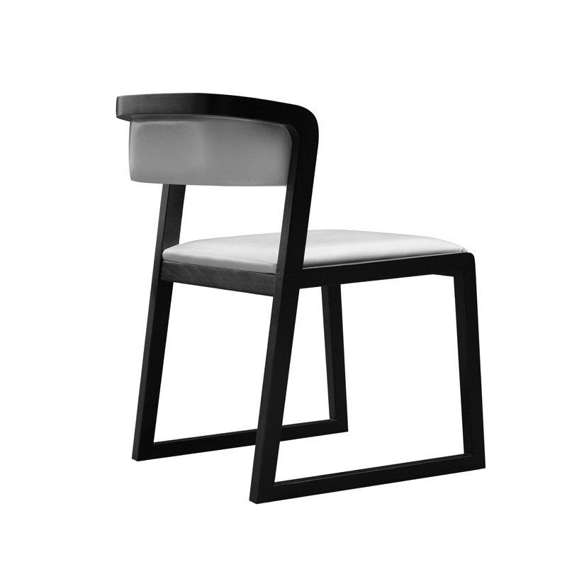 Modern Bar Bistro Wooden Dining Chair Leather Furniture CA031