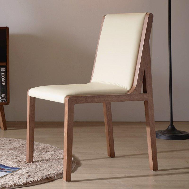 Modern Leather Dining Chair Bistro Seating Furniture CA036