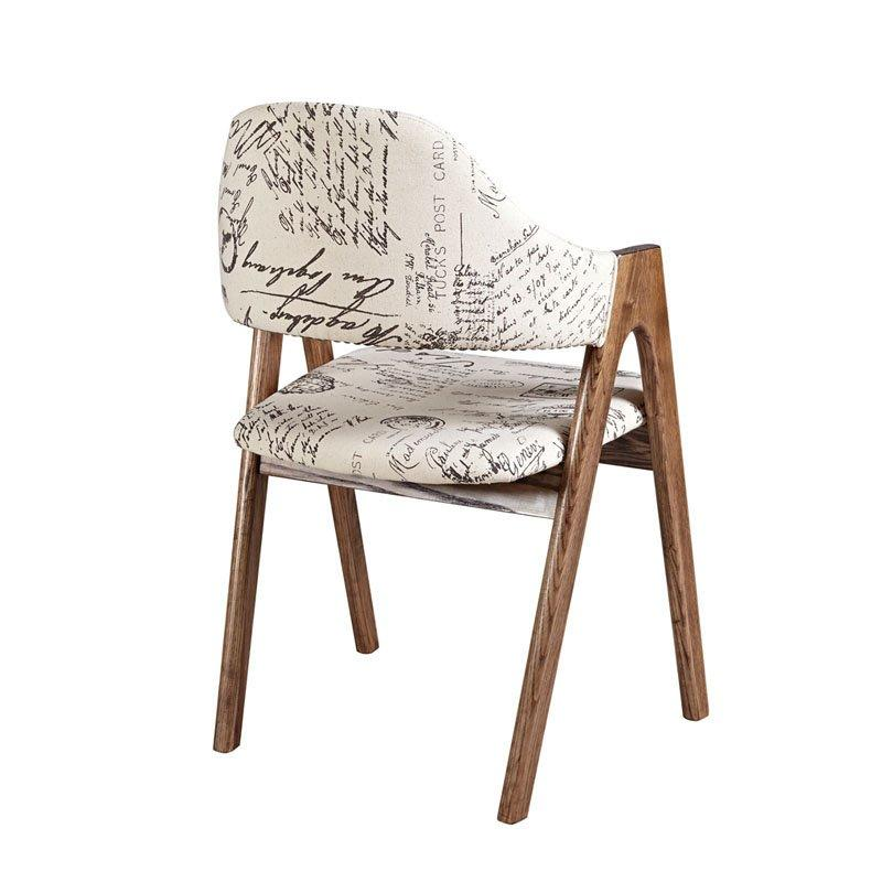 Retro Coffee Shop Furniture Solid Wood Dining Chair CA027
