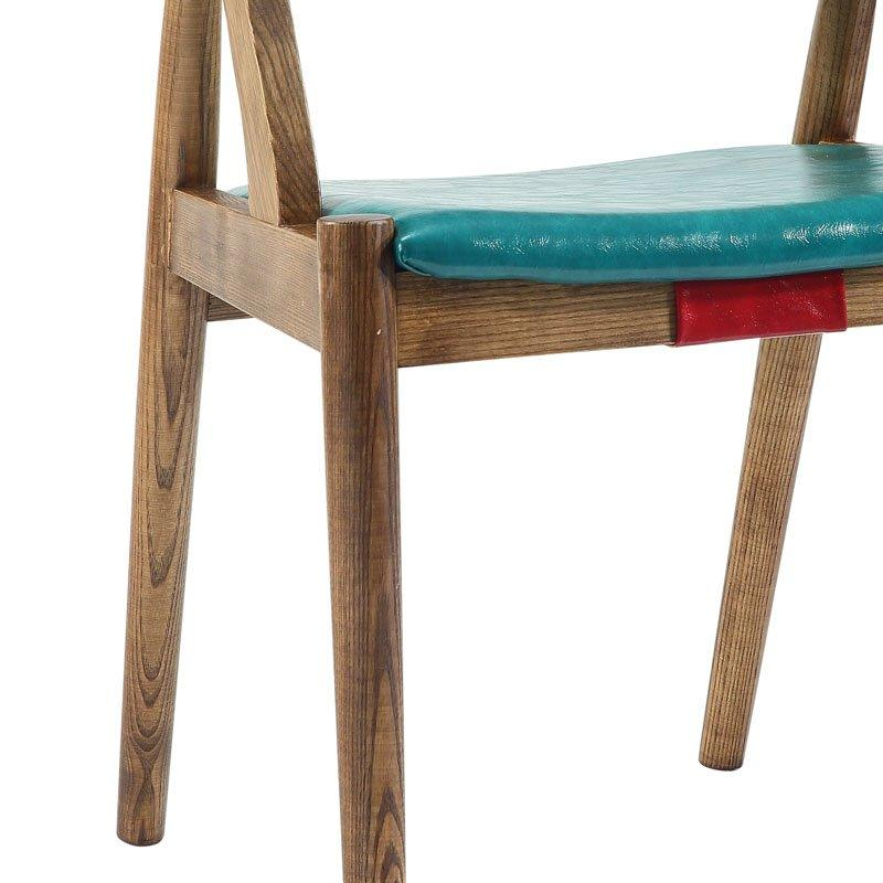 Retro Coffee Shop And Bistro Wooden Dining Chair CA042