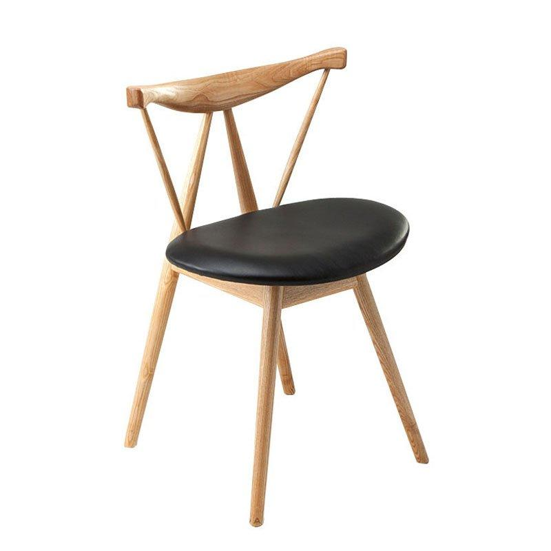 Unique Coffee Shop Dining Seating Wooden Chairs CA041