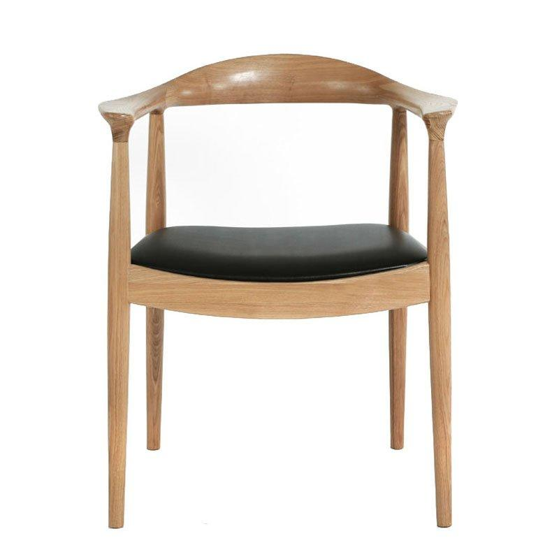 Nordic Solid Wood Kennedy Chair Armrest Seating CA046
