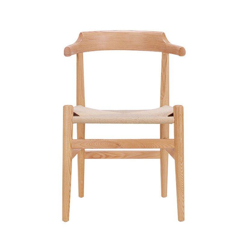 Nordic Wooden Chair With Braided Rope Seating CA049