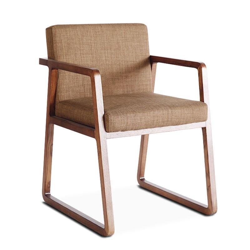 Modern Nature Wood Comfortable Soft Mat Armchair CA054