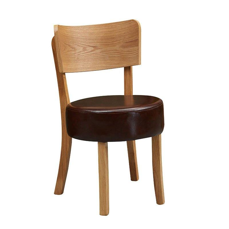 Concise Style Cafe Furniture Leather Dining Chair CA065