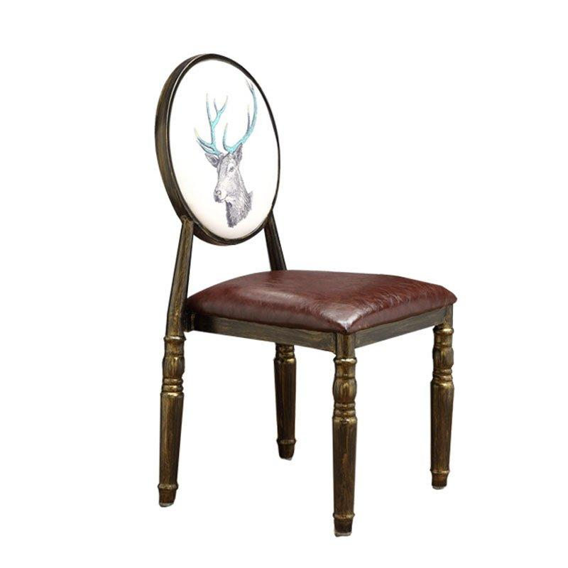 Fashional Rustic Restaurant Metal Dining Chairs CE006