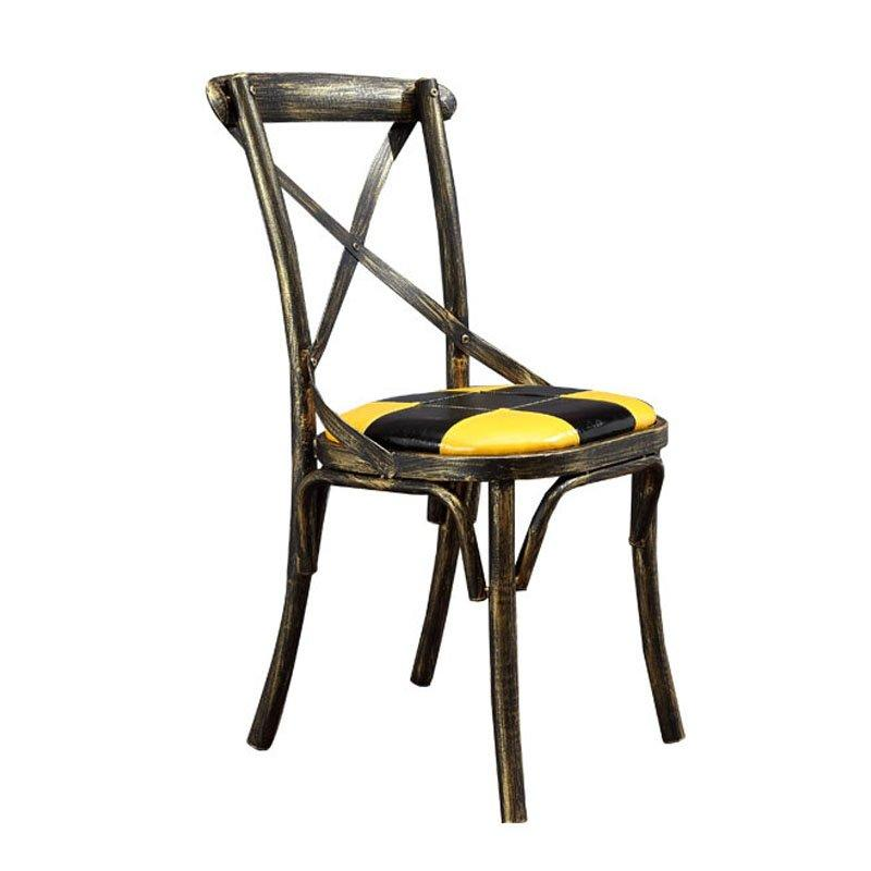 Industrial Loft Style Coffee Shop Metal X Back Chairs CE007