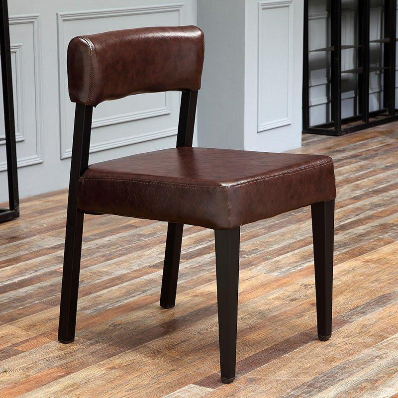 Modern Iron Dining Chair With Upholstered Back Rest CE009