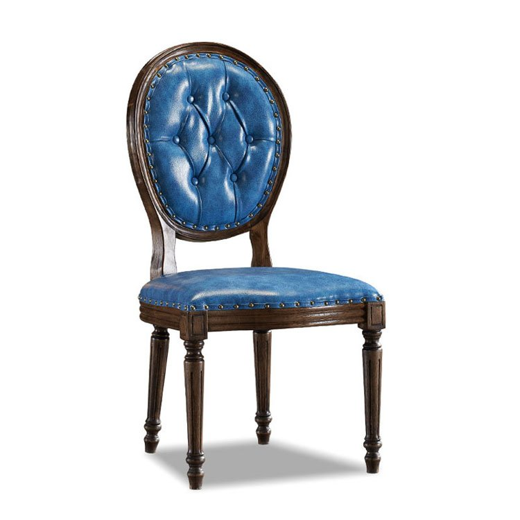antique leather dining chairs