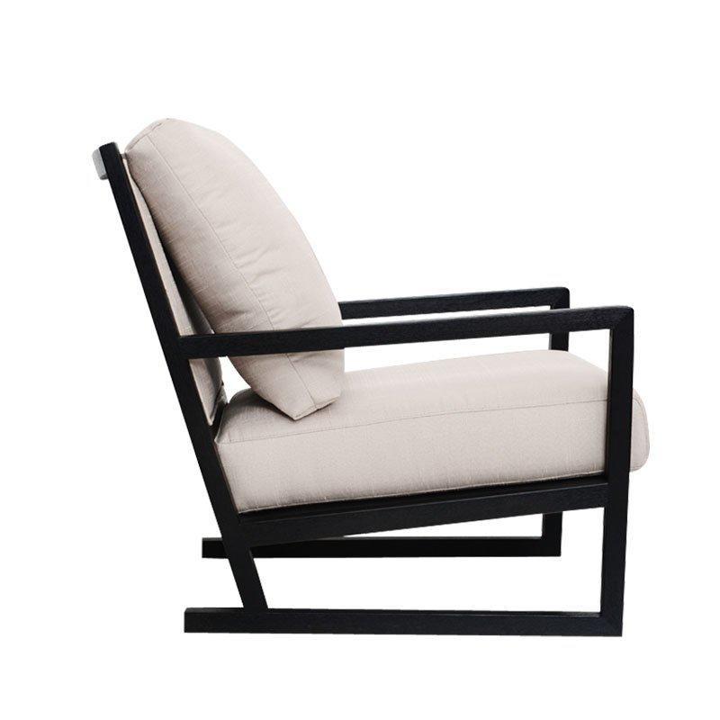 Contemporary Wooden Cushion Recliner Chair SA007