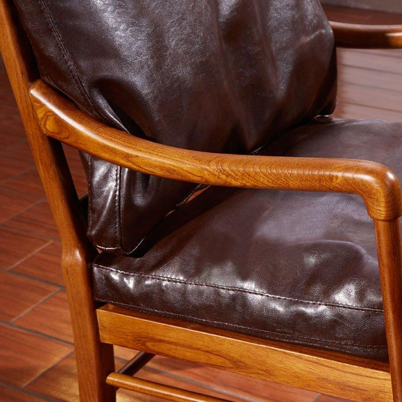 Retro Lounge Furniture Wooden Leisure Chair SA010