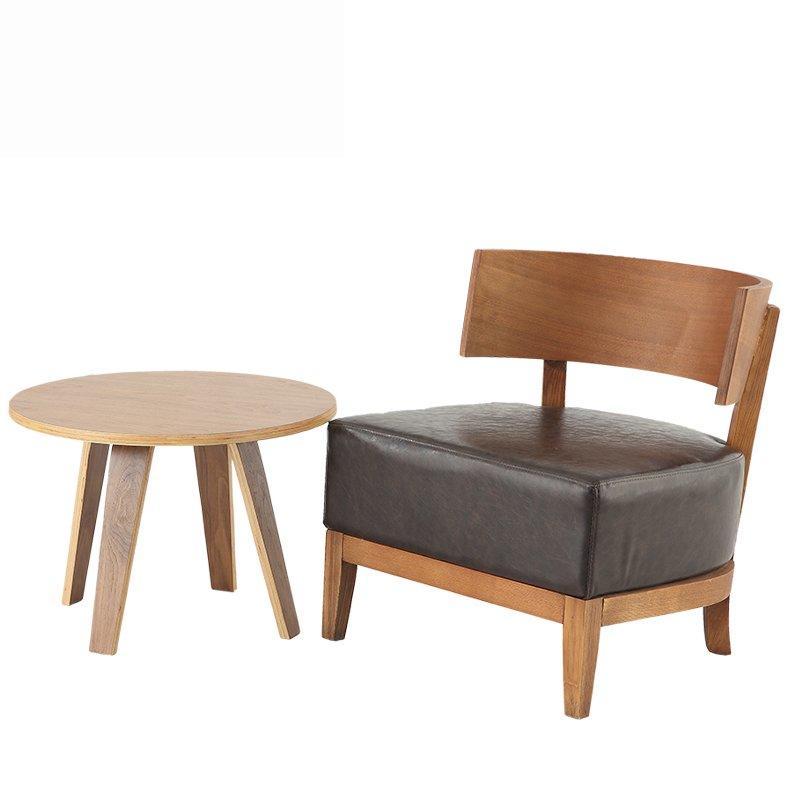 Modern Wood Upholstered Leisure Coffee Chairs SA013