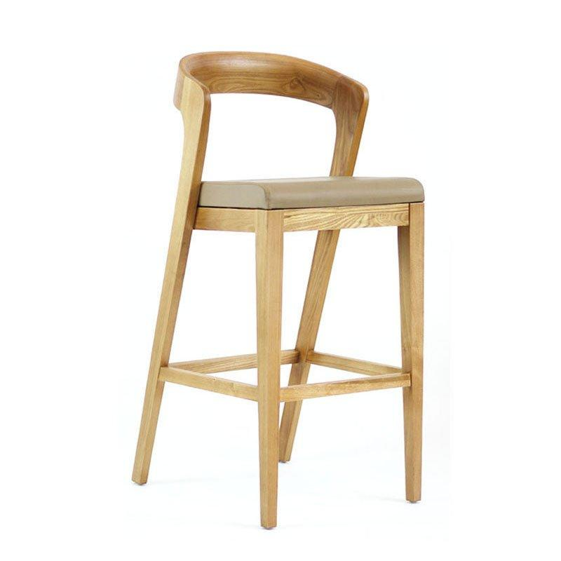 Modern Solid Wood Dining Bar Stools And Chairs BA004