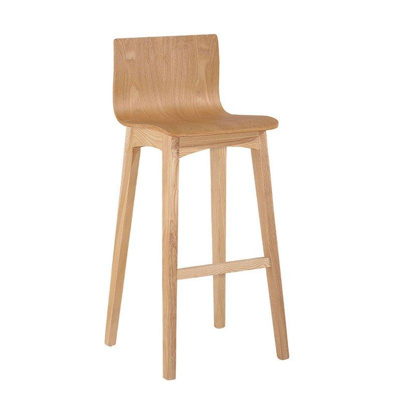 Modern Club Solid Wood Barstool With Back BA006