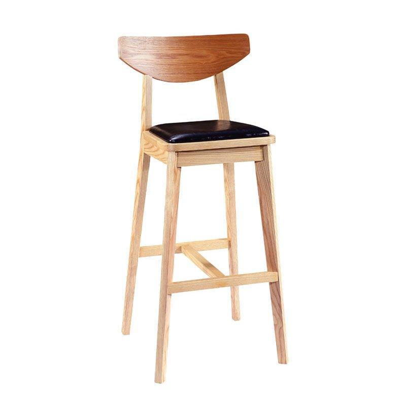 Modern Leather Counter High Stools With Back BA008