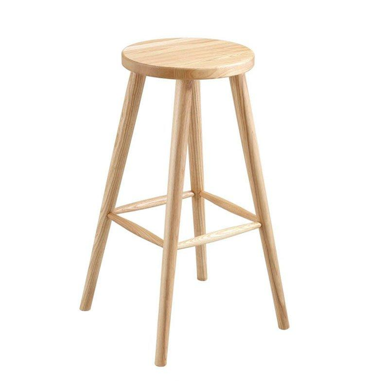 Simple Solid Wood Backless Bar Stools BA009