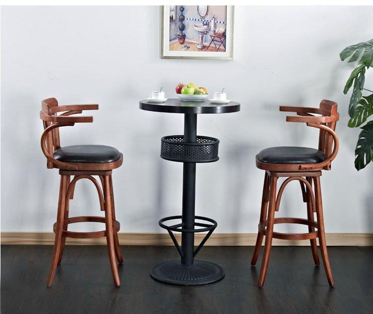 wooden breakfast bar stools