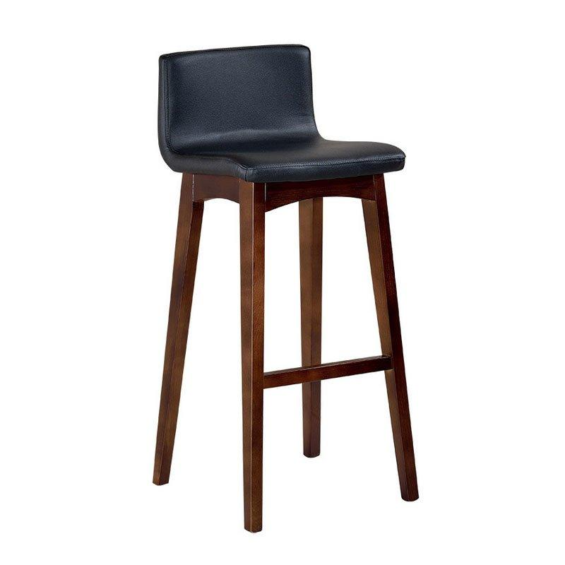 Contemporary Wooden Low Back Bar Stools BA012