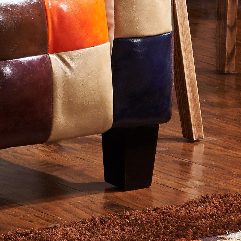 Retro Colourful Leather Plaid Pub Sofa SD001