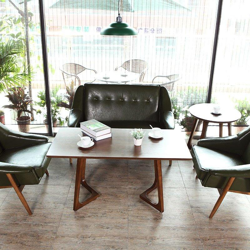 Nostalgic Wood Coffee Table And Reclining Lounge Chair SA005-1