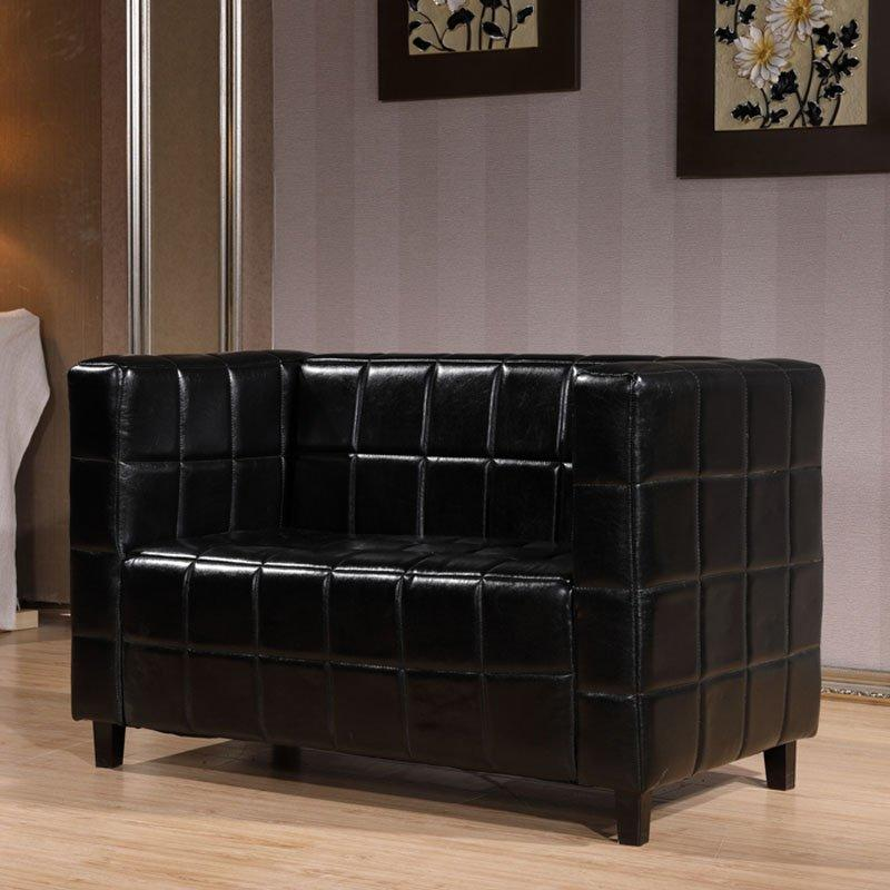Modern Pub Corner Leather Plaid Sofas SE013