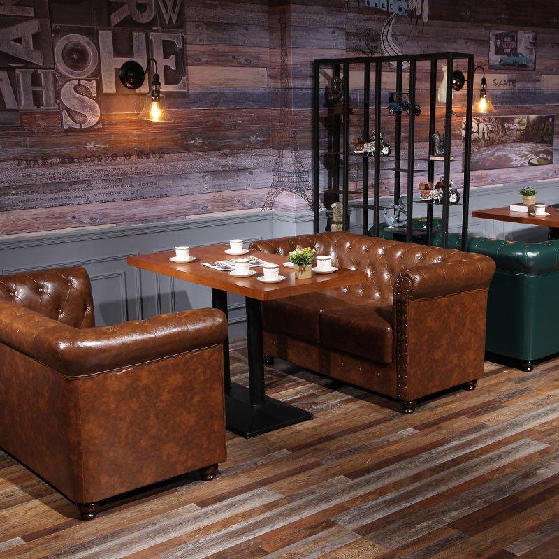 Nostalgic Luxury Leather Pull Clasp Sofa SE021