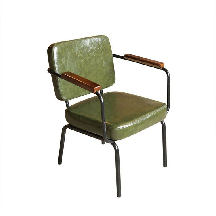 leather metal chair