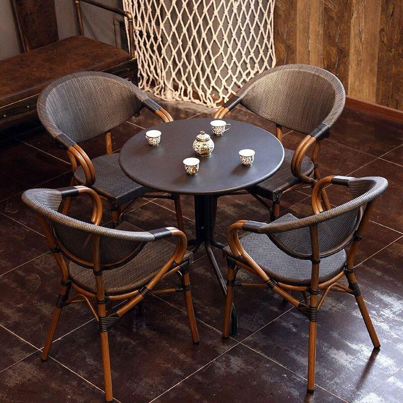 Starbucks Outdoor Cafe Table And Rattan Chairs GROUP68