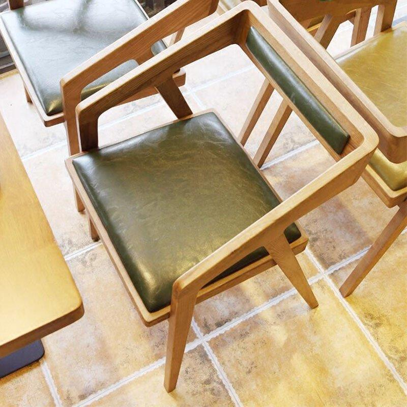 Modern Canteen Furniture Wooden ArmChair And Tables GROUP72