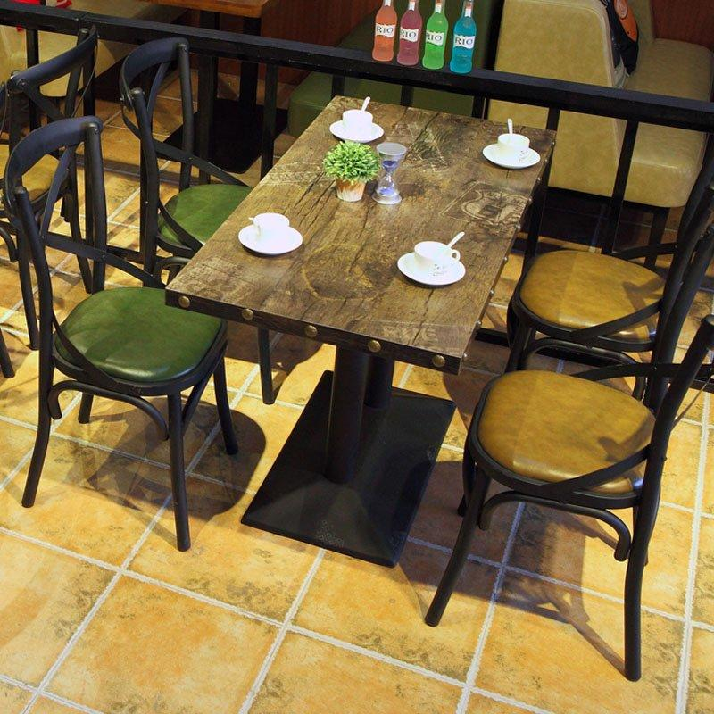 Rustic Industrial X Back Chair And Dining Table GROUP74